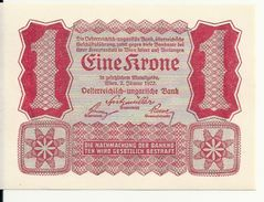 AUTRICHE 1 KRONE 1922 UNC P 73 - Austria