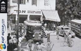 "Israel, BZ-362, Traffic In Old Tel-Aviv, First ""Egged"" Bus Station - 1938, 2 Scans. - Israel"