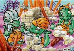 Die Dabsy Dinos 1994 / Puzzle Links Oben - Ü-Ei