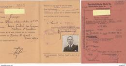 Archive Officier Administration Marine Régime Vichy Pétain Ministère Marine Déc 1944 Carte D'identité Laissez Passer ... - 1939-45