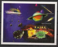 Zaire - 1996 - Bloc Feuillet BF N°Yv. 49 - Minéraux / Comète De Halley - Neuf Luxe ** / MNH / Postfrisch - 1990-96: Ungebraucht