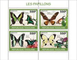 Togo 2010 MNH - Butterflies. YT 2060-2063, Mi 3404-3407 - Togo (1960-...)