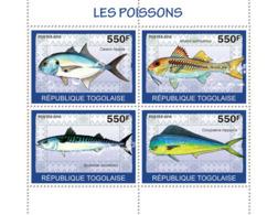 Togo 2010 MNH - Fishes. YT 2128-2131, Mi 3414-3417 - Togo (1960-...)