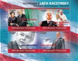 Togo 2010 MNH - Tribute To Lech Kaczynsky (1949-2010), Pope. YT 2180-2183, Mi 3544-3547 - Togo (1960-...)