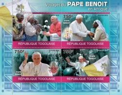 Togo 2010 MNH - Journeys Of Pope Benedict In Africa. YT 2136-2139, Mi 3554-3557 - Togo (1960-...)