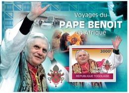 Togo 2010 MNH - Journeys Of Pope Benedict In Africa. YT 387, Mi 3558/BL522 - Togo (1960-...)