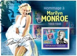 Togo 2010 MNH - Tribute To Marilyn Monroe. YT 399, Mi 3533/BL517 - Togo (1960-...)