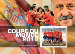 "Togo 2010 MNH - World Football Cup 2010 (National Team Of Spain ""La Roja""). YT 407, Mi 3698/BL549 - Togo (1960-...)"