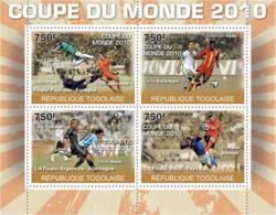 Togo 2010 MNH - World Football Cup 2010 (Iker Casillas, Mark Van Bommel). YT 2220-2223, Mi 3689-3692 - Togo (1960-...)