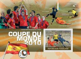Togo 2010 MNH - World Football Cup 2010 (A.Iniesta, R. Van Der Vart, M.Stekelenburg). YT 408, Mi 3697/BL548 - Togo (1960-...)