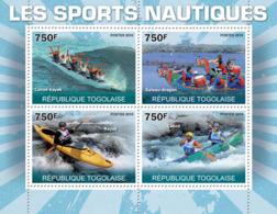 Togo 2010 MNH - Water Sports I (Canoe-Kayak, Dragon-Ship, Kayak, Canoe). YT 2240-2243, Mi 3659-3662 - Togo (1960-...)