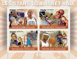Togo 2010 MNH - Basketball Stars (R.Allen, V.Carter, D.Howerd, LeBron James). YT 2260-2263, Mi 3604-3607 - Togo (1960-...)