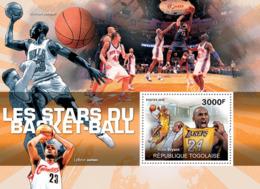 Togo 2010 MNH - Basketball Stars (Kobe Bryant). YT 418, Mi 3608/BL531 - Togo (1960-...)