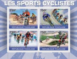 Togo 2010 MNH - The Cycling Sport (Mountains Bike, Racing Track, Racing Bikes, Cross). YT 2268-2271, Mi 3639-3642 - Togo (1960-...)