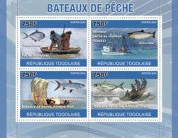 Togo 2010 MNH - Fishing Boats. YT 2364-2367, Mi 3734-3737 - Togo (1960-...)