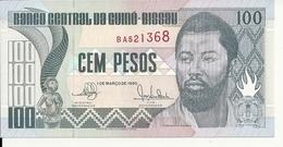 GUINEE-BISSAU 100 PESOS 1990 UNC P 11 - Guinea-Bissau