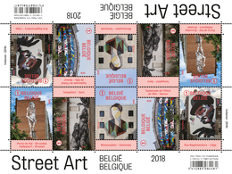 4770/74** Streetart België 2018 Belgium 2018 Street Art MNH Postfrisch - Belgium