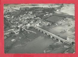 CPSM Grand Format - Port Sur Saône   -(Hte Saône) - Vue Aérienne - Le Grand Pont De Pierre Sur La Saône - Le Moulin Et S - France