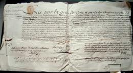 CAEN DISGOVILLE NORMANDIE LETTRE DE RATIFICATION POUR LE SIEUR BESSON 1792 CACHET EN CIRE 1792 - Manuscripts