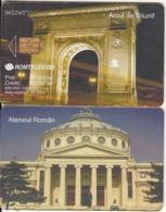 ROMANIA - Arcul De Tiumf 2, Ateneul Roman, Chip CHT08, 04/03, Used - Landschaften