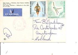 Laos ( CP De 1969 De WattayAéroport Vers Les Pays-Bas à Voir) - Laos