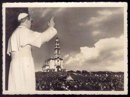 Fotografia PIO XII Primeiro PAPA De FATIMA (Milagre Sol). Vintage Photo POPE PIUS XII 1st Pope Visiting FATIMA PORTUGAL - Santarem