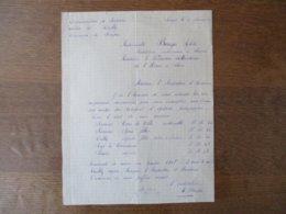 SOUPIR CANTON DE VAILLY LE 2 JANVIER 1947 COURRIER DE MADEMOISELLE BURGER ARLETTE INSTITUTRICE INTERIMAIRE A MONSIEUR L' - Manuskripte