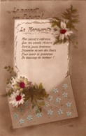 LA FAVORITE LE SECRET DES FLEURS ( LA MARGUERITE ) POEME  1919 - Tarjetas De Fantasía