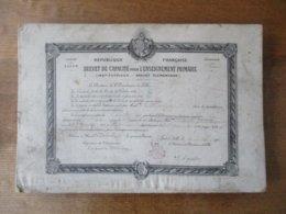 LILLE LE 25 JUILLET 1901 LE RECTEUR DE L'ACADEMIE Mlle DELOROZOY MARIE NEE LE 28 JUILLET 1880 A BRAINE A ETE JUGEE APTE - Diplomas Y Calificaciones Escolares
