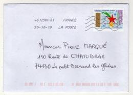 Enveloppe FRANCE Oblitération LA POSTE 46129A-01 30/10/2019 - Poststempel (Briefe)