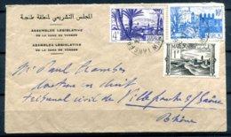 MAROC - 1949 - Enveloppe De L'Assemblée Législative De La Zone De Tanger Pour La France - Morocco (1891-1956)