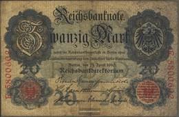 German Empire Rosenbg: 40b, 7stellige Kontrollnummer Used (III) 1910 20 Mark - [ 2] 1871-1918 : German Empire