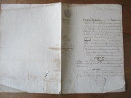 22 MARS 1847 M.FRANCOIS PAGNIER CHARPENTIER A PONT SUR SAMBRE ET Mme CAROLINE DELMARLE ONT VENDU A M.ALEXIS LOIR CULTIVA - Manuscrits