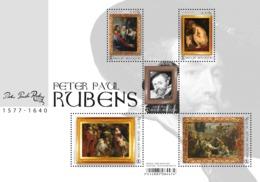 Blok 262** Peter Paul Rubens - 4765/69** Meesterlijke Schilders - Maîtres De La Peinture! - Belgium