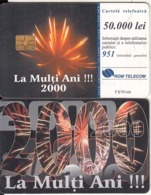 ROMANIA - Happy New Year 2000, Chip GEM3.1, 12/99, Used - Natale