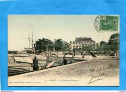 INDOCHINE-SAÏGON -la Pointe Des Blagueurs- Beau Plan Animé +-a Voyagé 1907 éditions Planté - Vietnam