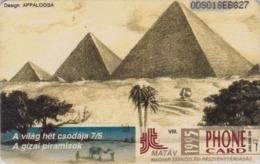 Télécarte Puce Hongrie - Site EGYPTE - Antiquité - PYRAMIDE & Palmier - EGYPT Rel Hungary Chip Phonecard - 228 - Cultura