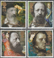 United Kingdom 1392-1395 (complete Issue) Unmounted Mint / Never Hinged 1992 Lord Tennyson - 1952-.... (Elizabeth II)
