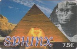 Télécarte Prépayée France - Site EGYPTE - Antiquité - SPHINX & PYRAMIDE - EGYPT Rel Prepaid Phonecard - 229 - Cultura