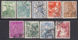 JAPAN 1951 - MiNr: 555-563  9 Werte Gestempelt - 1926-89 Emperor Hirohito (Showa Era)
