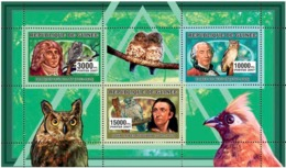 Guinea 2006 MNH -  Ornitologists - Birds - YT 2727-2729, Mi 4281-4283 - Guinea (1958-...)