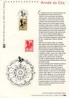 """"""" HOROSCOPE CHINOIS : ANNEE DU COQ """" Sur Document Philatélique Officiel De 2005 N° YT 3749. DPO - Ferme"""