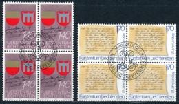 Zumstein 868-869 / Michel 928-929 Viererblockserie Mit ET-Zentrumstempel - Liechtenstein