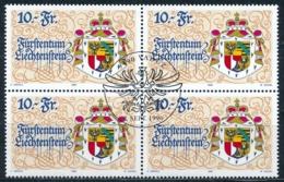 Zumstein 1078 / Michel 1136 Viererblockserie Mit ET-Zentrumstempel - Liechtenstein