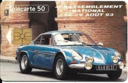 CARTE-PRIVEE-50U-EN712-GemA-08/93-CAR OCCITAN-ALPINE A110-Série 5001-UTILISEE-TBE  -LUXE - Francia