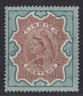 India - 1892-99 - 3rs Yv.50 - Used - 1882-1901 Imperio