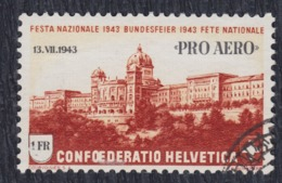 "Switzerland 1943 Special Post-flight ""Pro Aero 1943"" With Overprint, Used (o) Michel 422 - Svizzera"