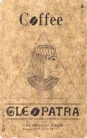 Télécarte DOREE Japon / 110-118 - EGYPTE - CLEOPATRE Pub Café Coffee - EGYPT Rel Japan GOLD Phonecard - MD 233 - Cultura