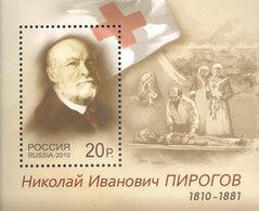 Russia, N.Pirogov, Medicine, 2010 Blocks Red Cross - 1992-.... Föderation