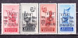 Belgio 1949    Serie  Completa Sovrastampata  MLH - Belgium